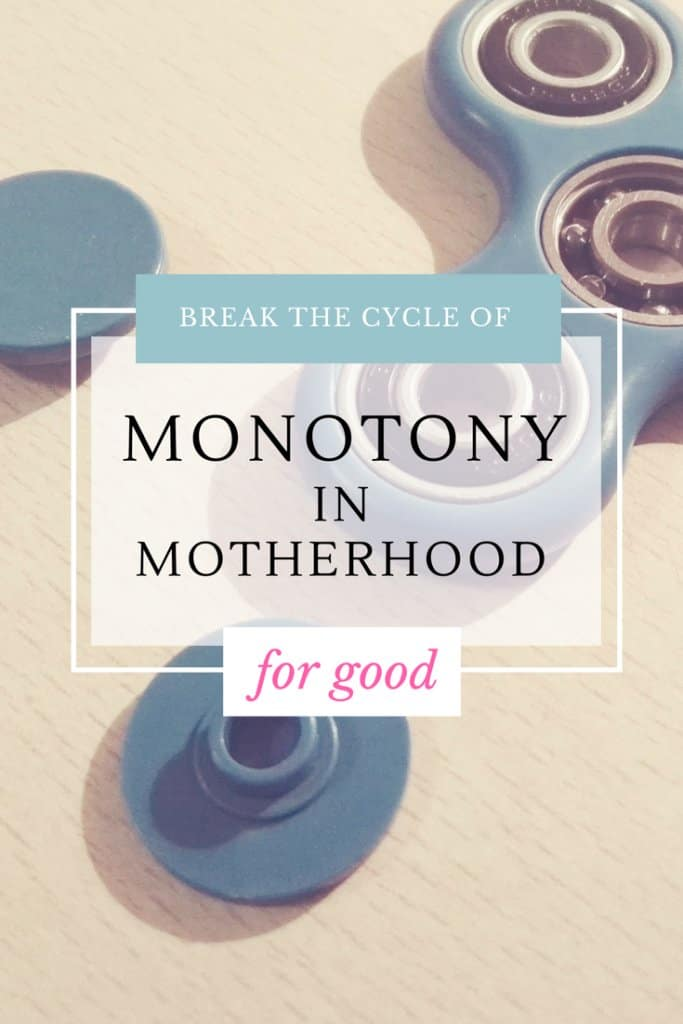 Being a mom can feel monotonous at times—feeling like your sitting on top of your very own fidget spinner. This is motherhood. Or is it?