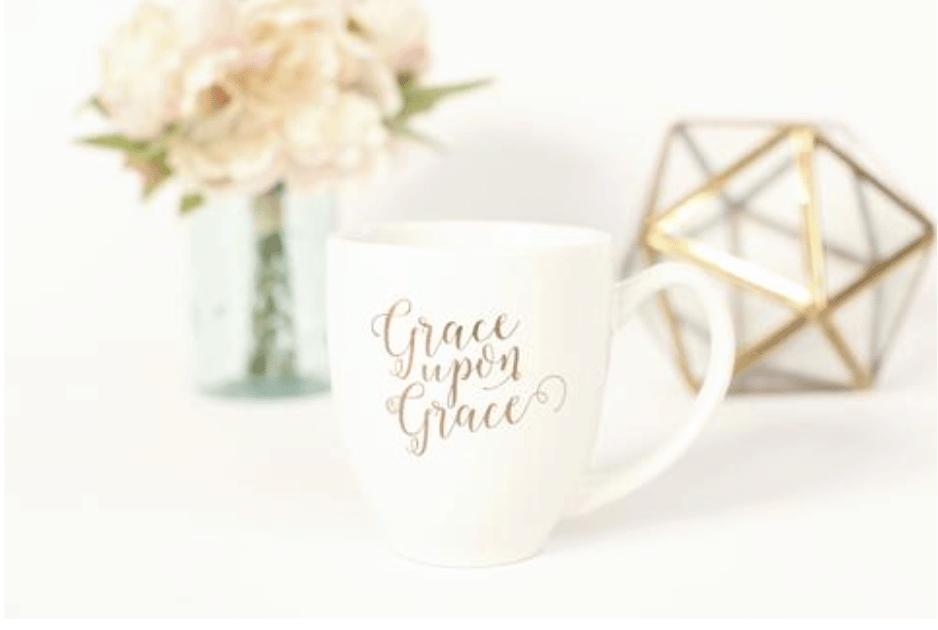 Grace Upon Grace Mug healthylivingmom.com