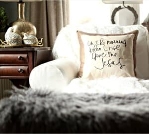 In The Morning When I Rise Give Me Jesus Pillow healthylivingmom.com
