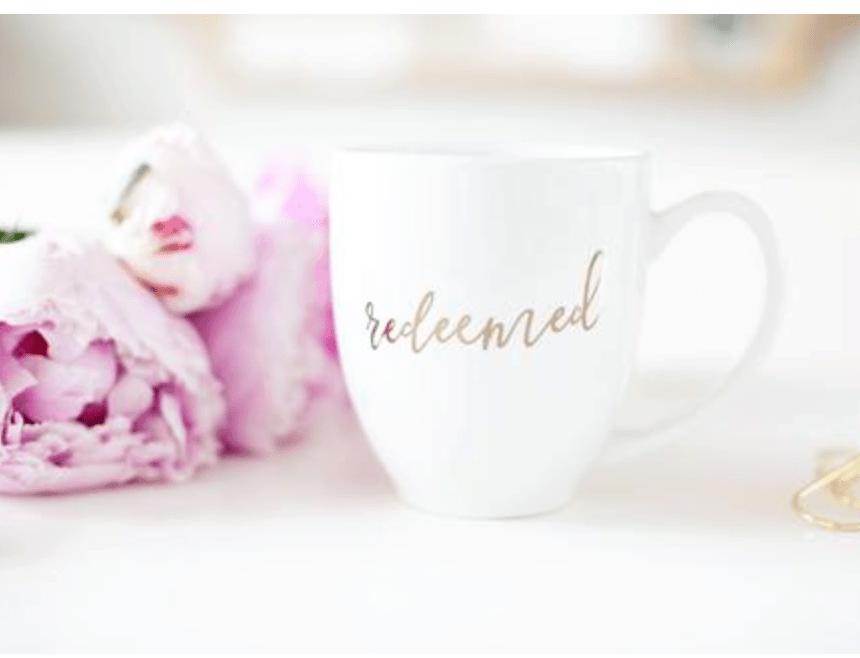 Redeemed Mug healthylivingmom.com