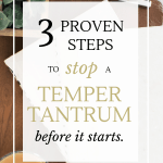 What if you could go to the grocery store and not have to deal with a temper tantrum? Here are 3 proven steps to stop a temper tantrum before it starts.