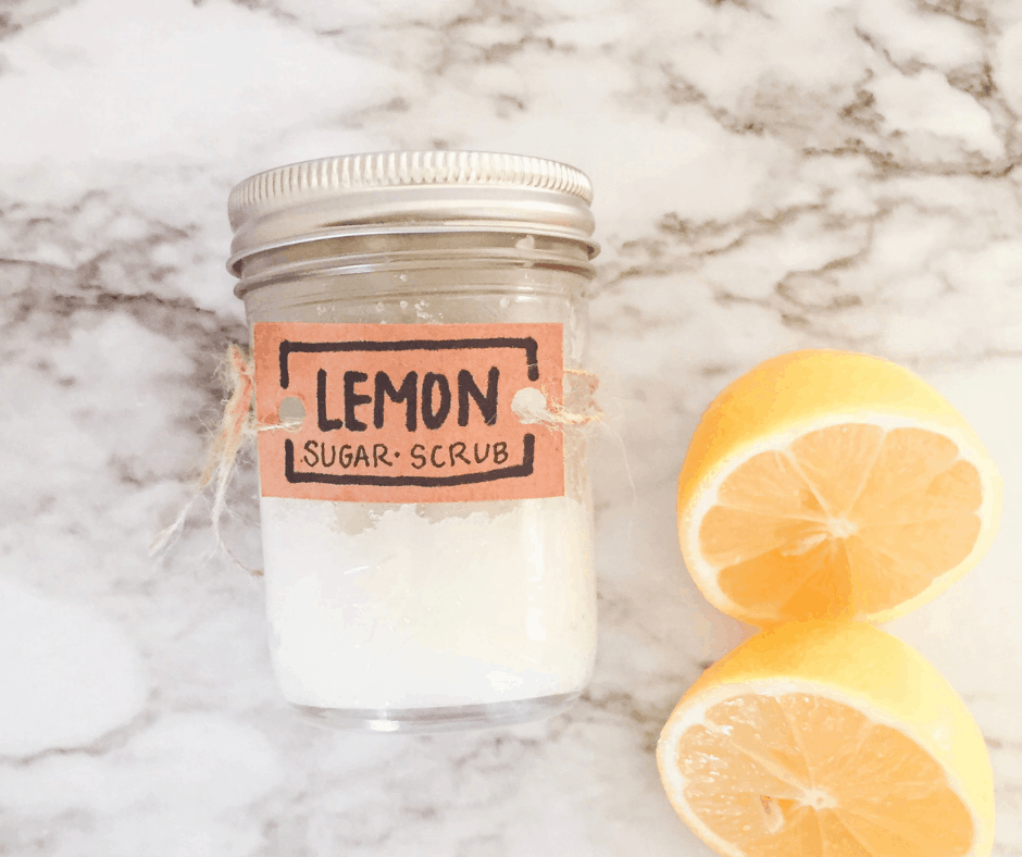 Lemon Sugar Scrub DIY (non toxic 3 ingredients)