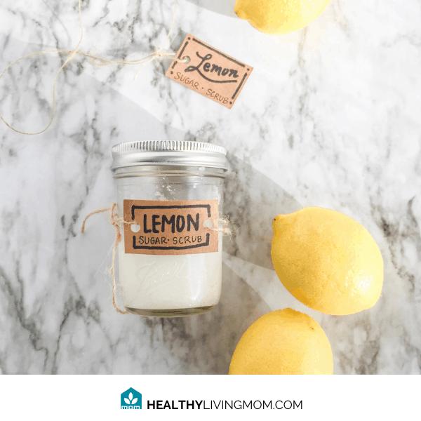 Lemon Sugar Scrub DIY (non toxic 3 ingredients) 2