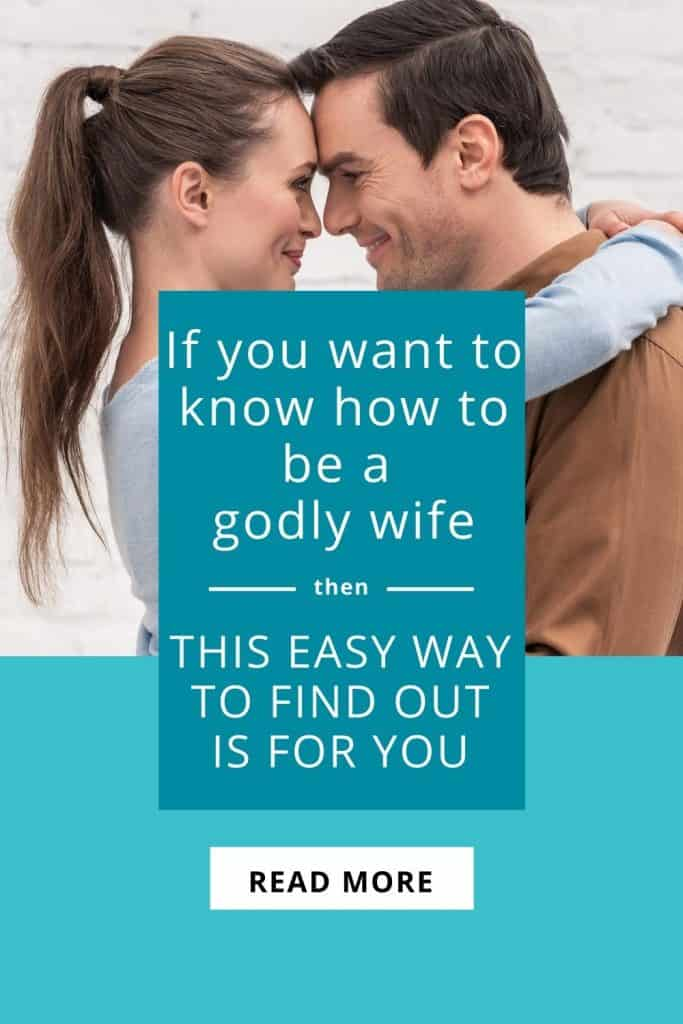 Becoming a godly wife is the desire of your heart, but you don't know how to be a godly wife? There's something you can do that will help you instantly improve your marriage, and help you know how to be a godly wife, a proverbs 31 woman. This is the easiest way to find out what you really need to do! #beingagodlywife